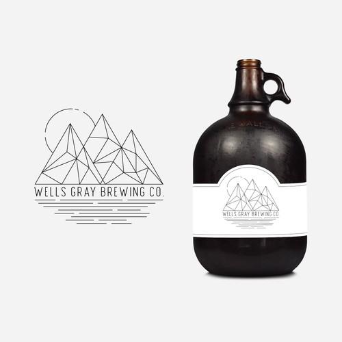 Geometric Monoline Logo for Cool Brewing Company