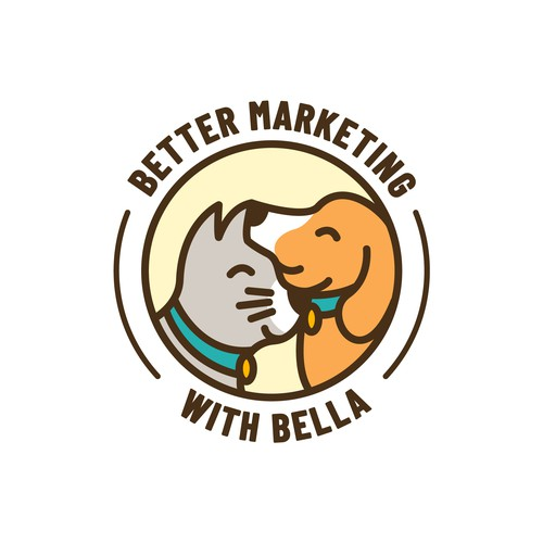Playful Dog and Cat Animals Logo Design for Better Marketing With Bella