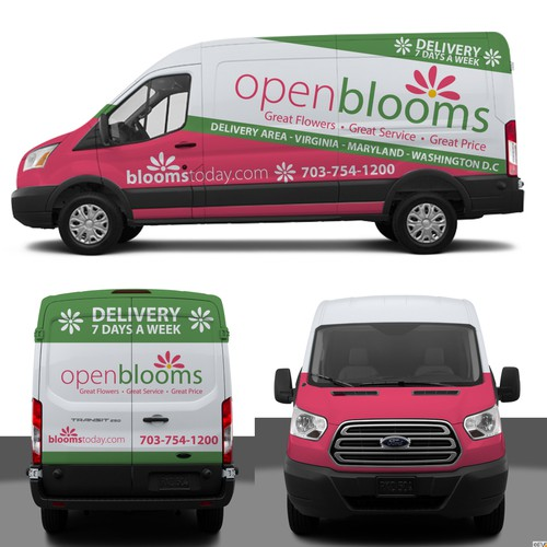 Open Bloom Vehicle Wrap