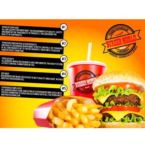 Burger world Banner design