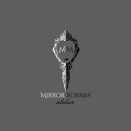 Fairytale mirror logo design for makeup studio