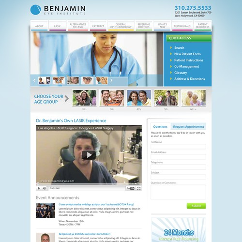Benjamin Eye Institute Web Site