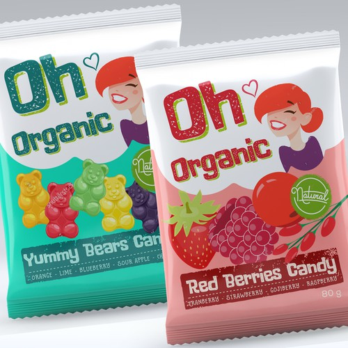 OH ORGANIC Candy packaging Design