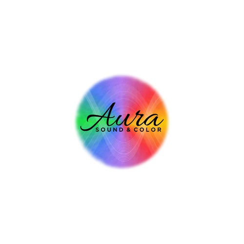 Aura Sound & Color Logo Design