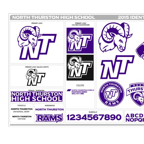 Ram logos for high school rebrand