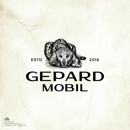 Handdrawn Cheetah for Gepard Mobil