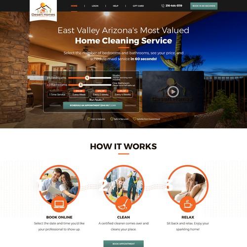 Website design for  deserthomescleaning.com