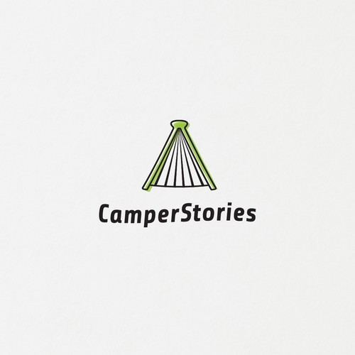 Book tent logo for camping stories blog