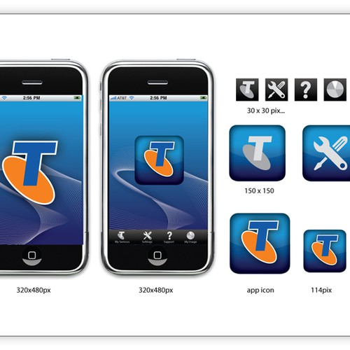 Mobile App Logo and Screen