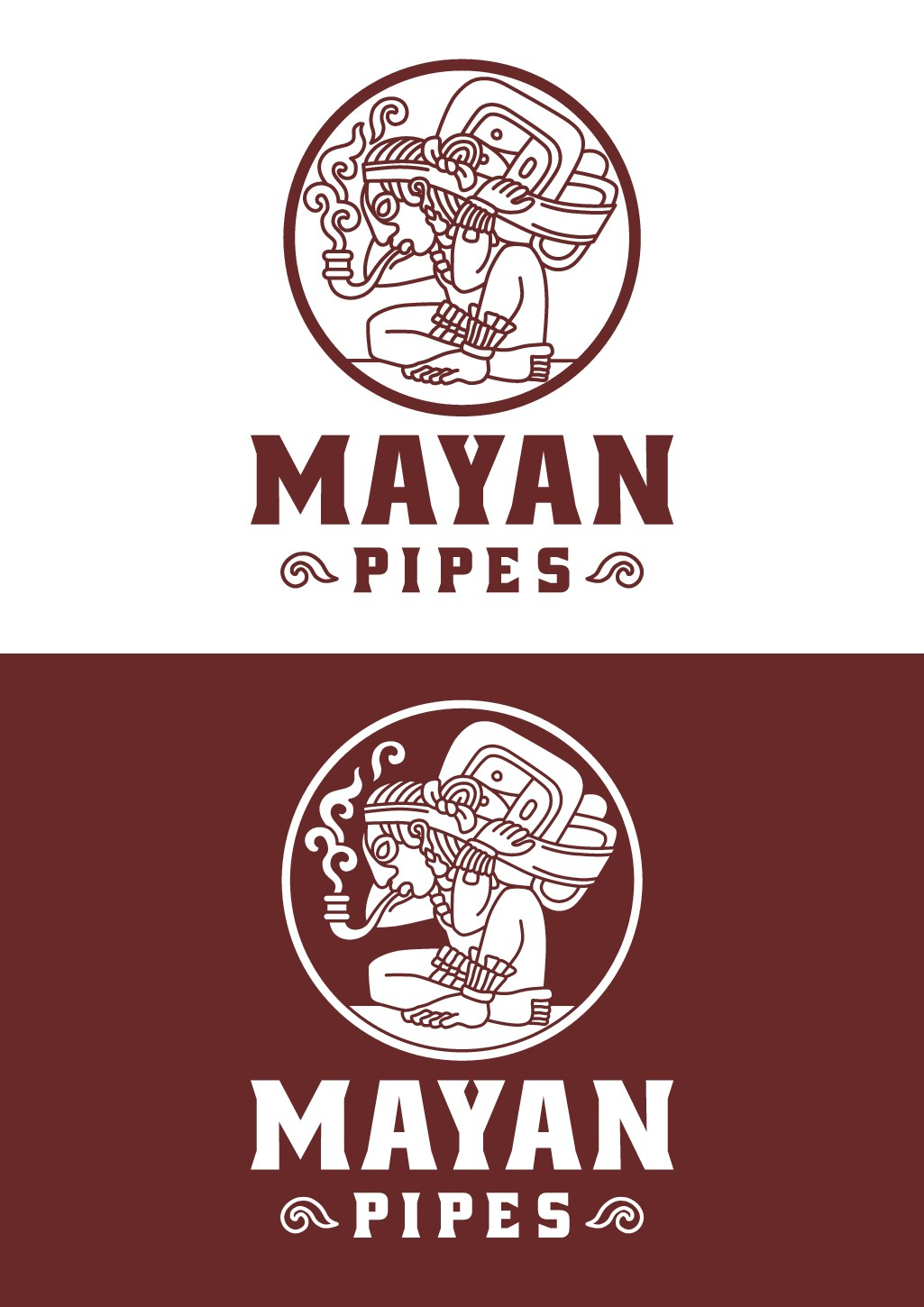 Logo for hand-made Mayan pipes (low key weed pipes)