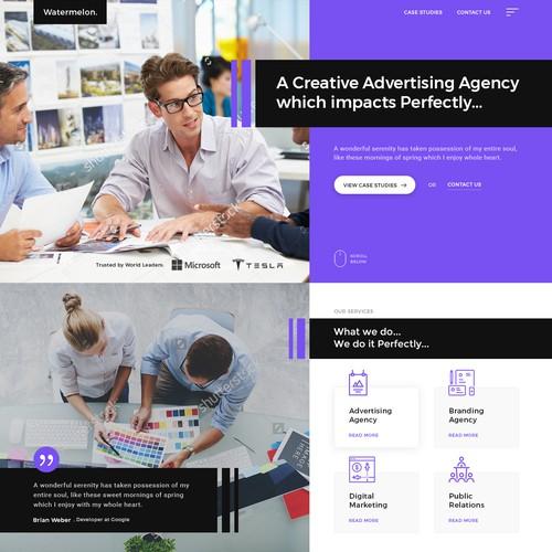 Creative Advertising Agency Homepage