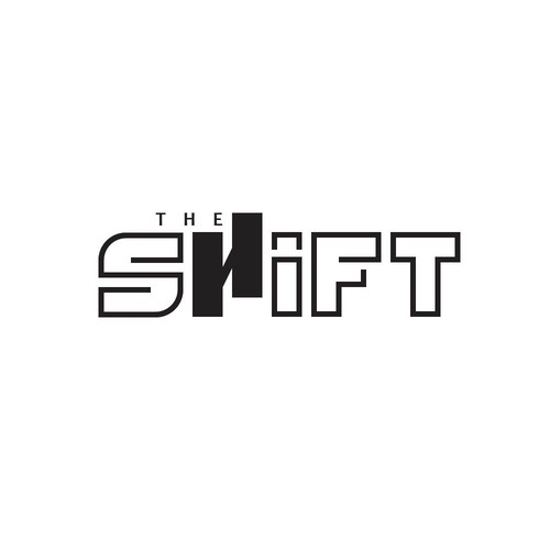 shift logo with the letter 'H' illustrated as if shifted.