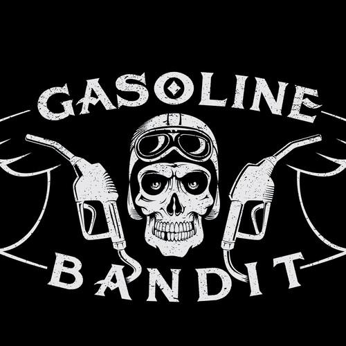 Logo for GASOLINE BANDIT, winner guaranteed!