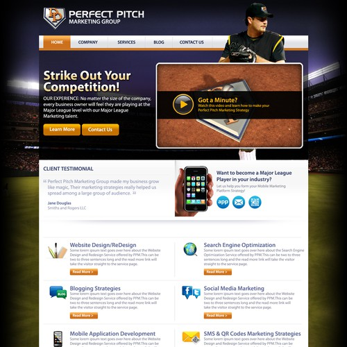 Create the next website design for Perfect Pitch Marketing