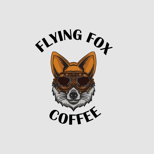 Logo concept for Flying Fox Coffee