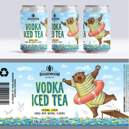 Canned cocktail label, Lemon