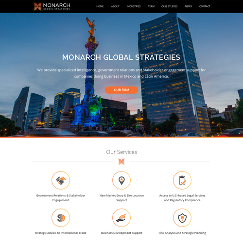 Web Design For Monarch Global Strategies