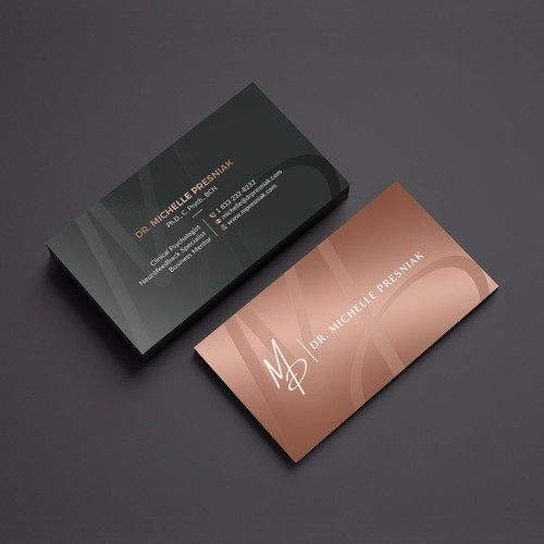 Modern Yet Warm Business Card Design for a Psychologist