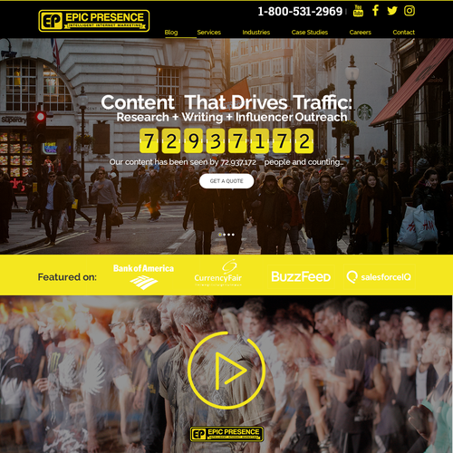 Website Concept for Epic Presence