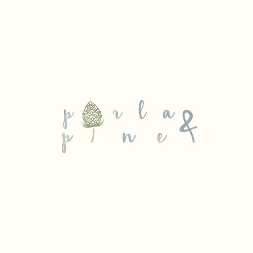 clean and feminine porla and pine logo