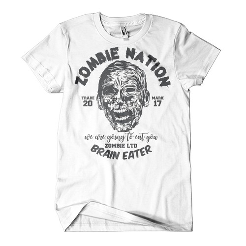 T-shirt + Vintage + Zombies = [Your design here]?