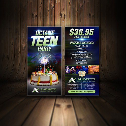 Birthday parties rack card