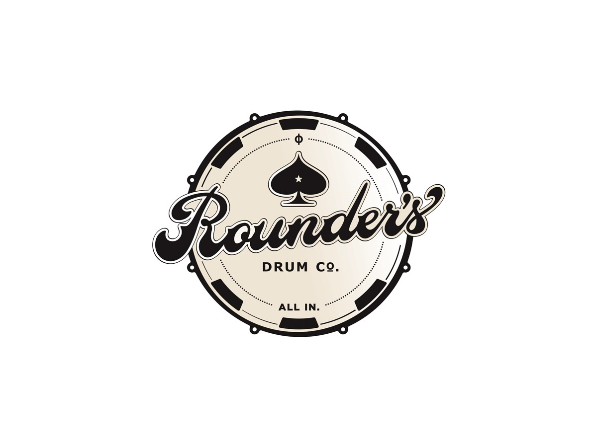 Drum set manufacturing company- Your vintage logo design and the COOL factor!
