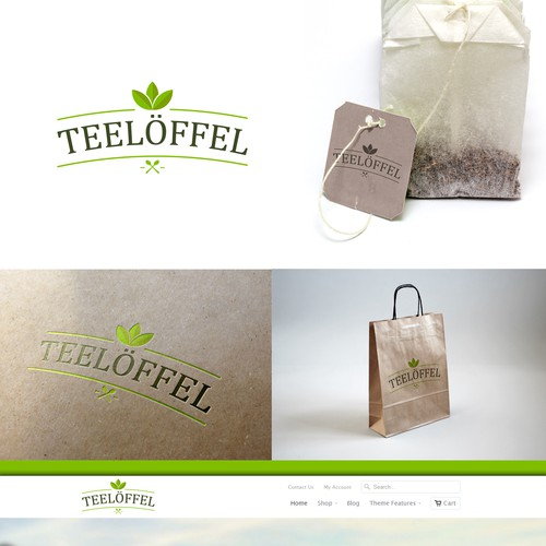 """Create a logo for our teashop called """"teelöffel / tee spoon"""""""