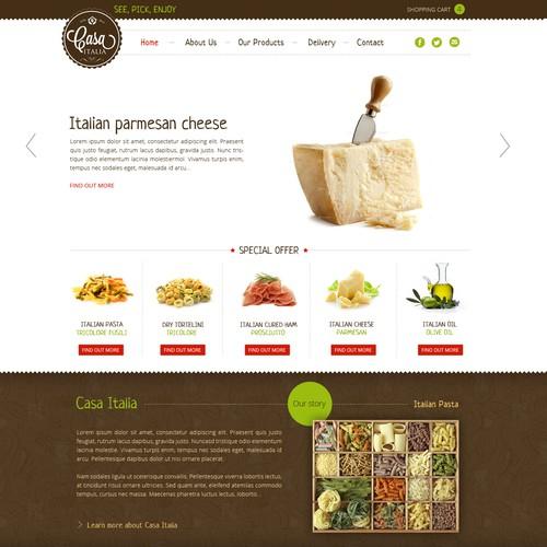 Website Design for CASA ITALIA - Fine Italian Products