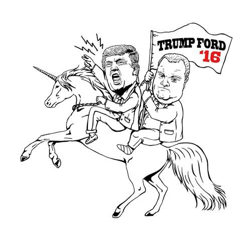 Donald Trump & Rob Ford Riding a Unicorn