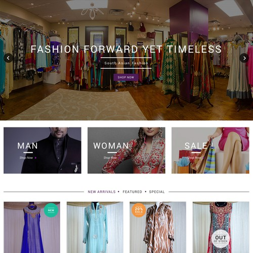 Outfitters Website Design