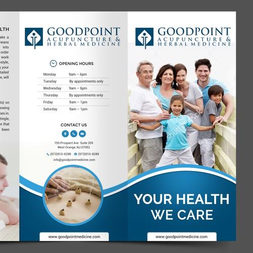 Creative Modern Brochure for Ancient Art: GoodPoint Medicine