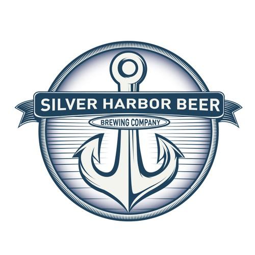 Silver harbor beer logo design
