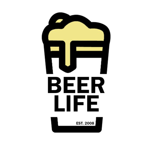 Beer Life stcker concept Beer on Glass