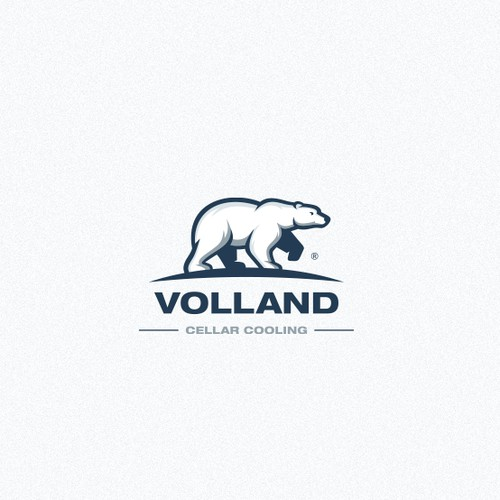 Bear logo for cellar cooling company