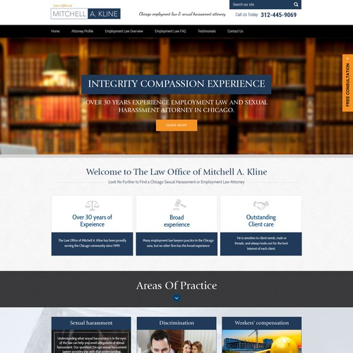 Web Site fot Labor Law Firm