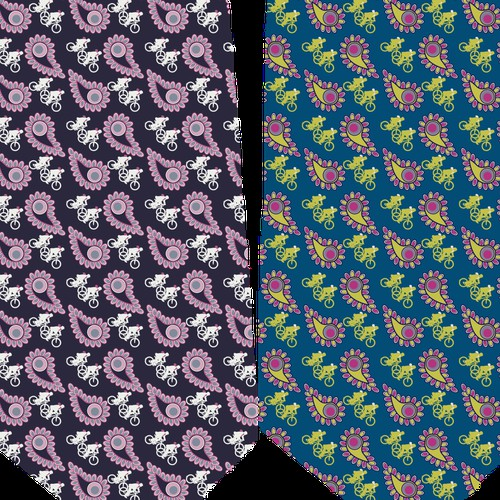 Designing fabric for a Mans Tie.