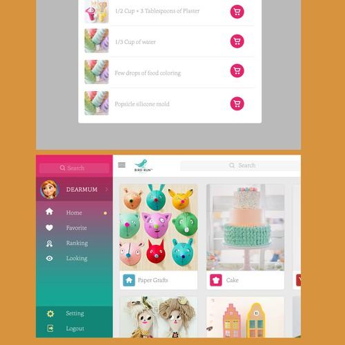 mama-hacks app design