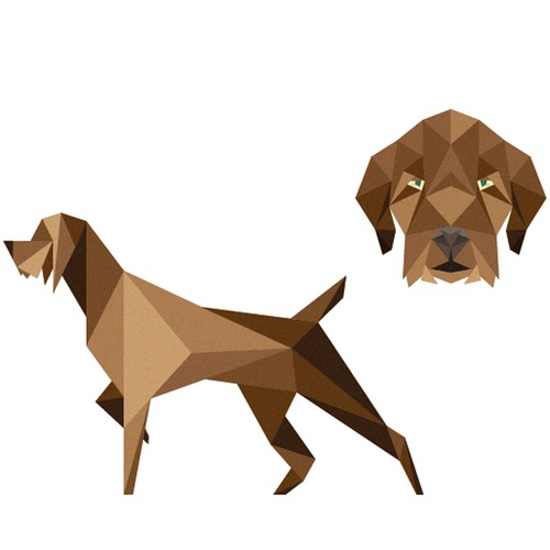 pudelpointer low-poly