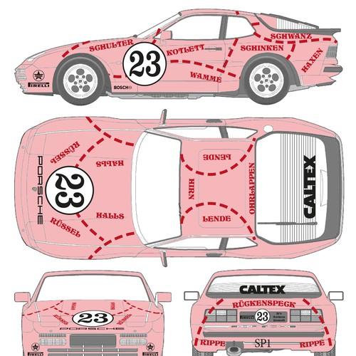 PinkPig Porsche wrap