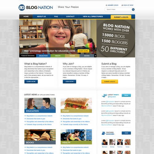 Corporate Website Redesign Targeting Bloggers!