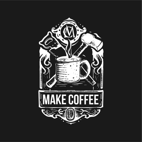 hand drawing logo for Make Coffee