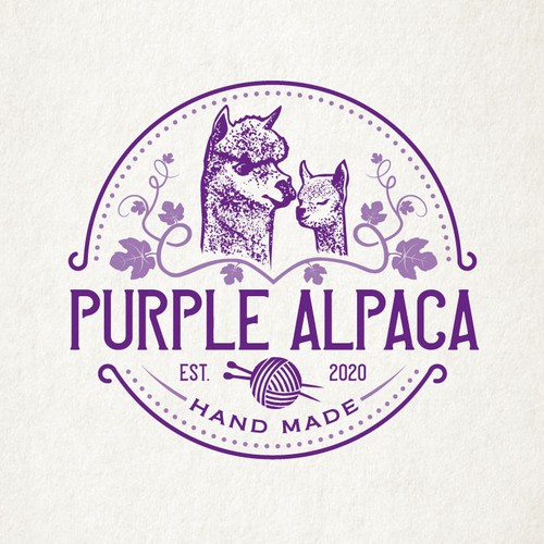 Logo for an Alpaca Farm