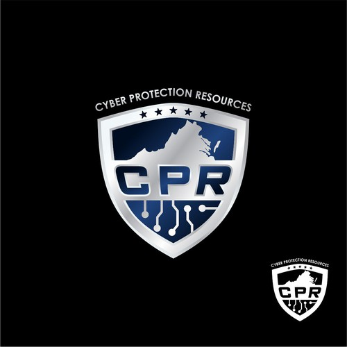 Masculine and elegant logo for cyber protection resources