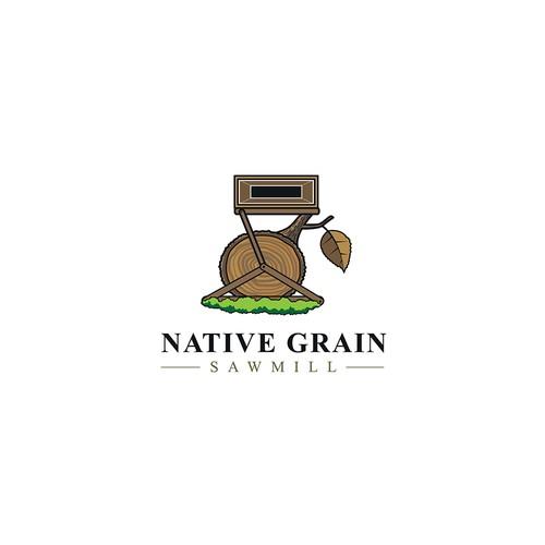 Native Grain Sawmill Logo