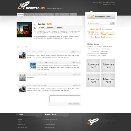 2009 - Site design for media distribution service