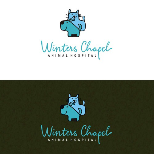 Create an adorable new logo for Winters Chapel Animal Hospital