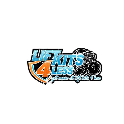 Lift Kits 4 Less re-design of logo