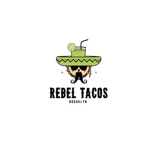 Rebel Logo for Cocktail&Tacos Bar
