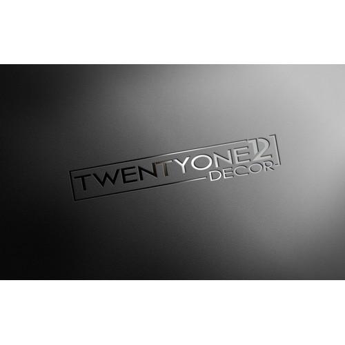 Create a compelling logo for TwentyOne12 Decor